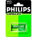 Batterij 9V LR61 Philips Longlife
