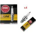 NGK Bougie BKR6E V-Line 4 Stuks