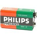 Batterij 9V LR61 Philips Powerlife
