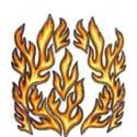 Stickerset Vlammen