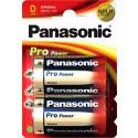 Batterij LR20 Panasonic Pro Power 2 Stuks