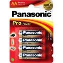 Batterij AA Panasonic Pro Power 4 Stuks