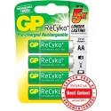 Batterij AA Oplaadbaar GP Recyko 4 Stuks