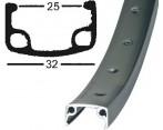 Achterwiel 26 Inch FH-RM30-7 7-Speed 36 Spaaks Zwart