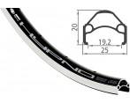 Voorwiel 26 Inch Shimano HB-RM40 36 Gaats Zwart