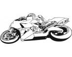 Decoratie Folie Motorfiets