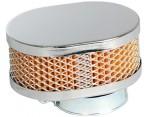 Chroom Powerfilter Luchtfilter 36 MM