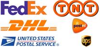 Wij verzenden met TNT, DHL, UPS, USPS en FedEx